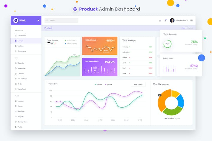 Thumbnail for Produkte - Admin Dashboard UI Kit