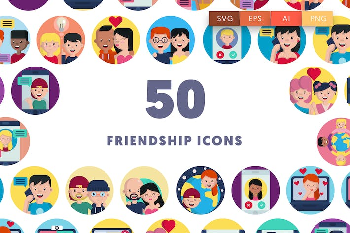 Thumbnail for 50 Friendship Icons
