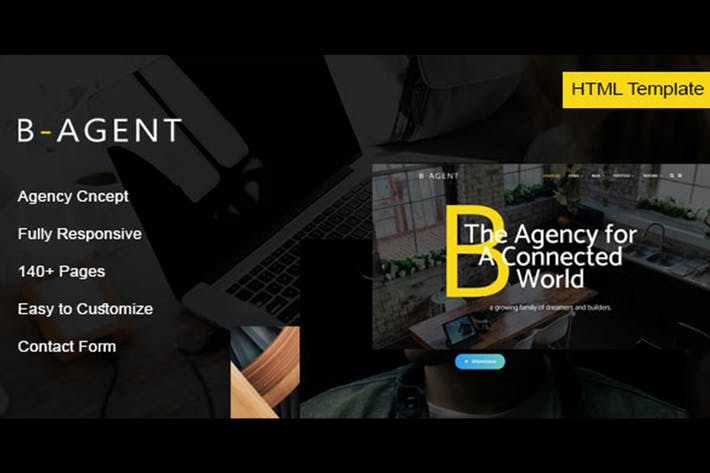 Thumbnail for B-Agent - Agency HTML Template