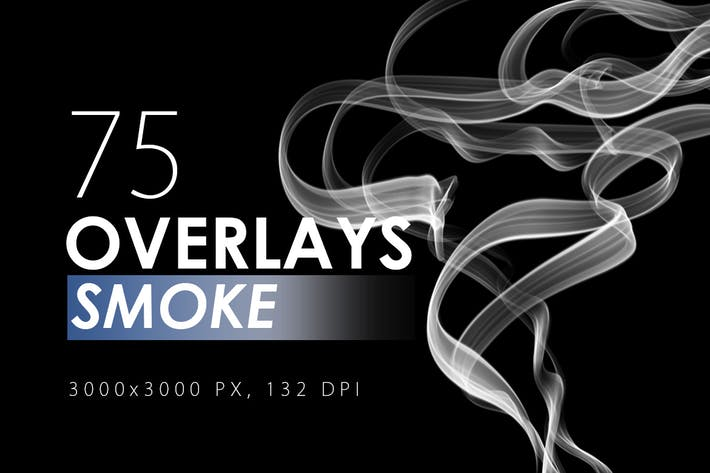 Cover Image For 75 Smoke Overlays