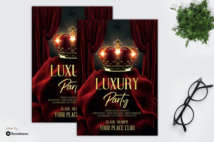 Thumbnail for Luxus Vip Party - Flyer MR