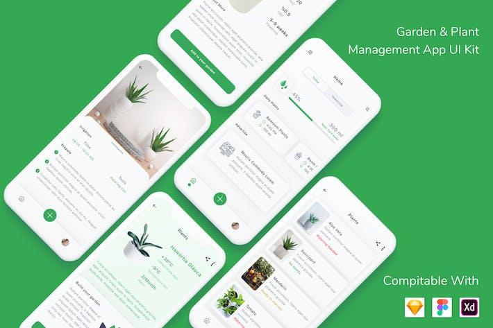 Thumbnail for Garden & Plant Management App UI Kit