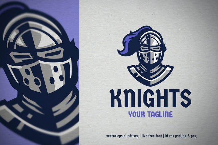 Thumbnail for knight helmet mascot logo