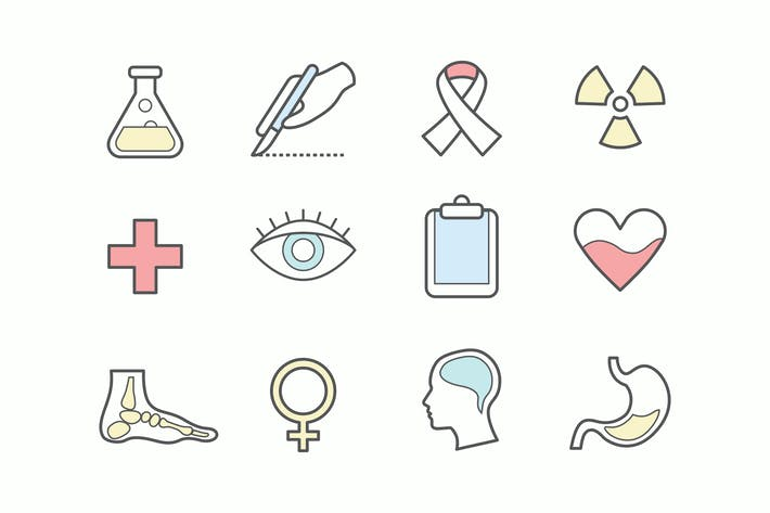 Thumbnail for Healthcare Stroke Icons