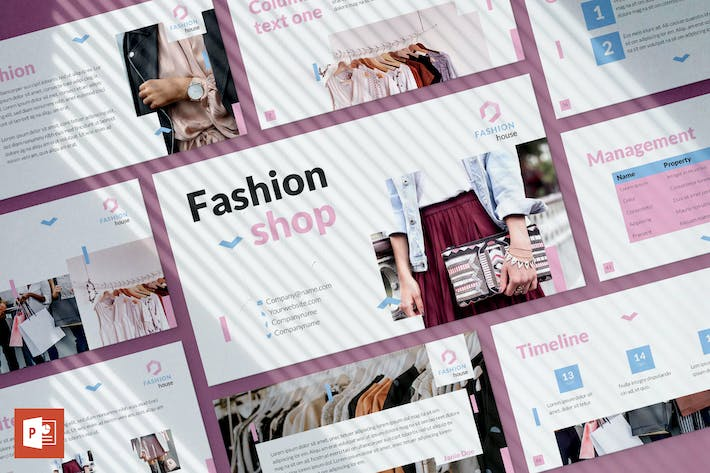 Thumbnail for Fashion House PowerPoint Presentation Template