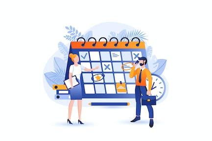 Business-Planung - Flat