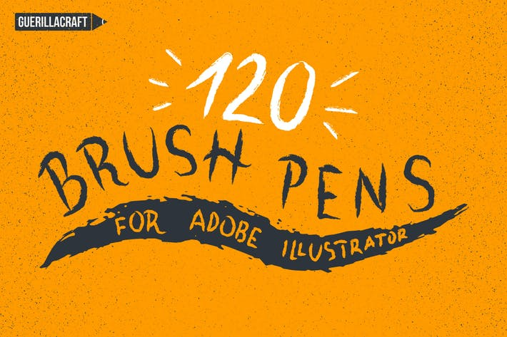 Thumbnail for 120 Brush Pens for Adobe Illustrator