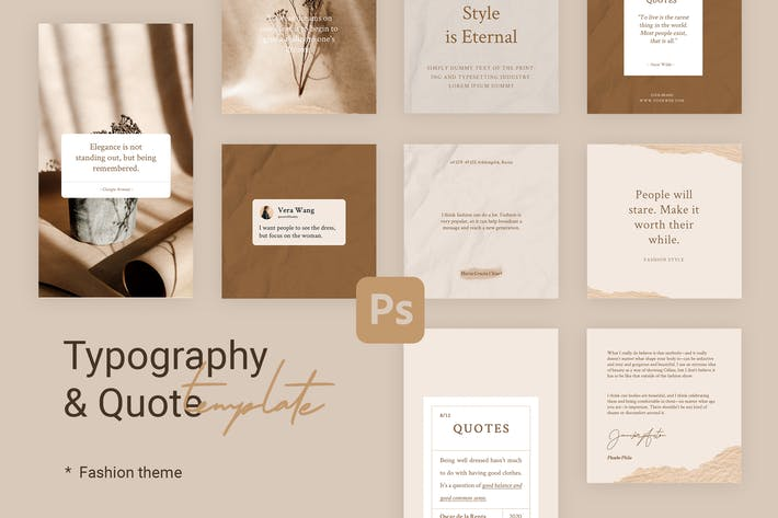 Thumbnail for Editable Quotes Instagram Templates for Fashion V1