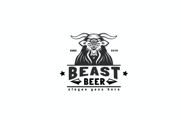 Thumbnail for Beast Beer Logo Template