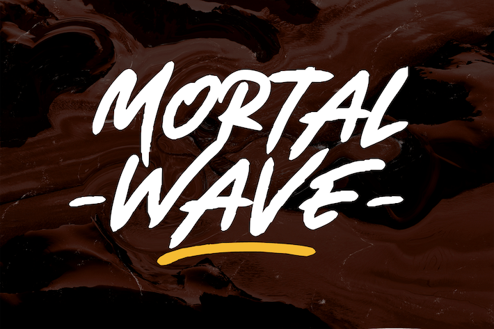 Thumbnail for Mortal Wave - Dry Brush Font