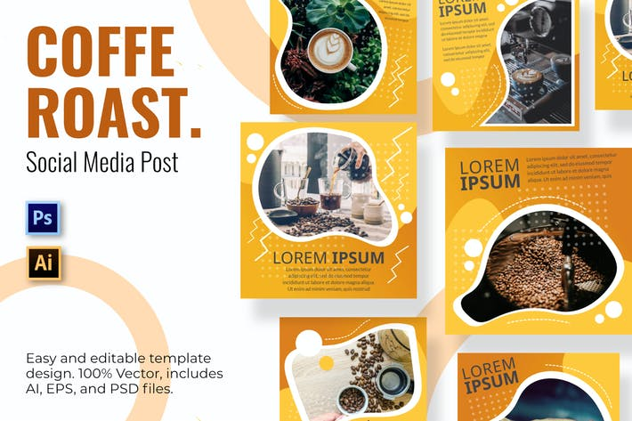 Thumbnail for Coffee Social Media Template