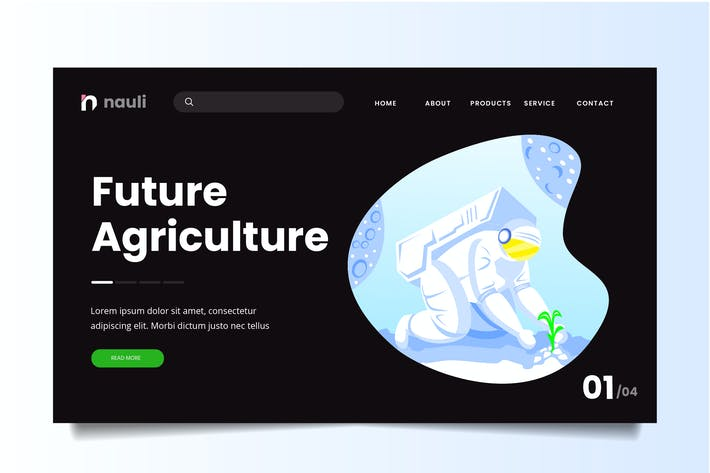 Future Space Agriculture Web Header PSD and AI