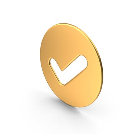 Tick-Symbol Gold