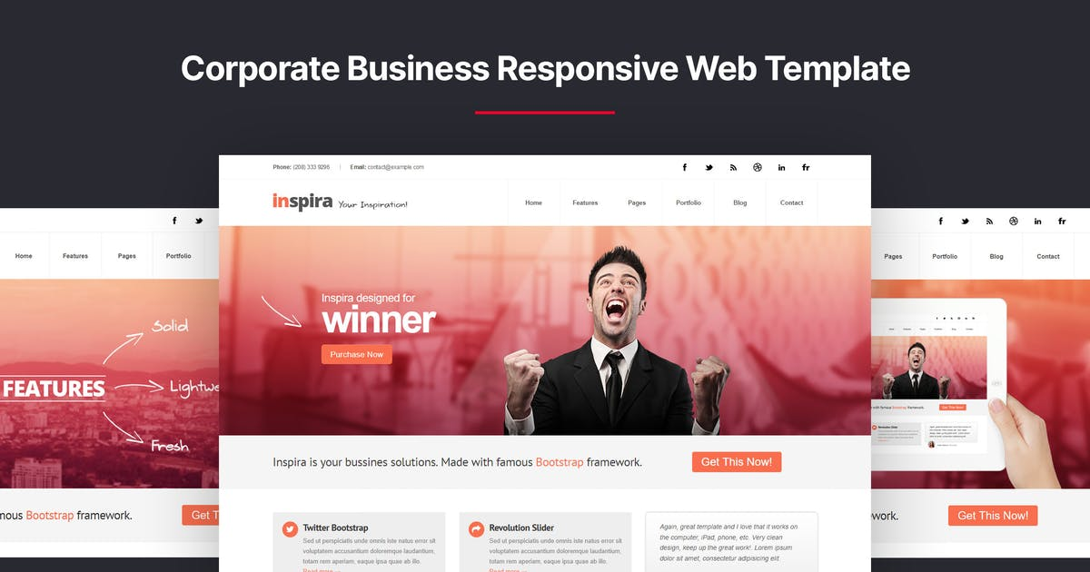Download Inspira - Corporate Business Responsive Template by designesia