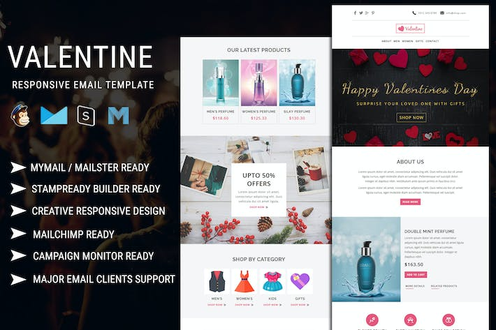 Thumbnail for Valentine - Responsive Email Template