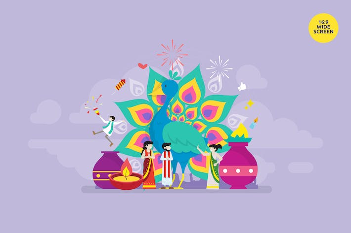 Thumbnail for Diwali Hindu Festival Celebration Vector Concept