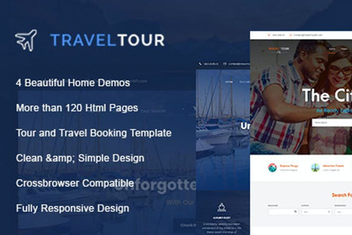 Cover Image For Travel Tour - Travel, Tour HTML Template