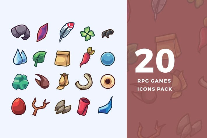 Cover Image For 20 RPG Games Icons Pack