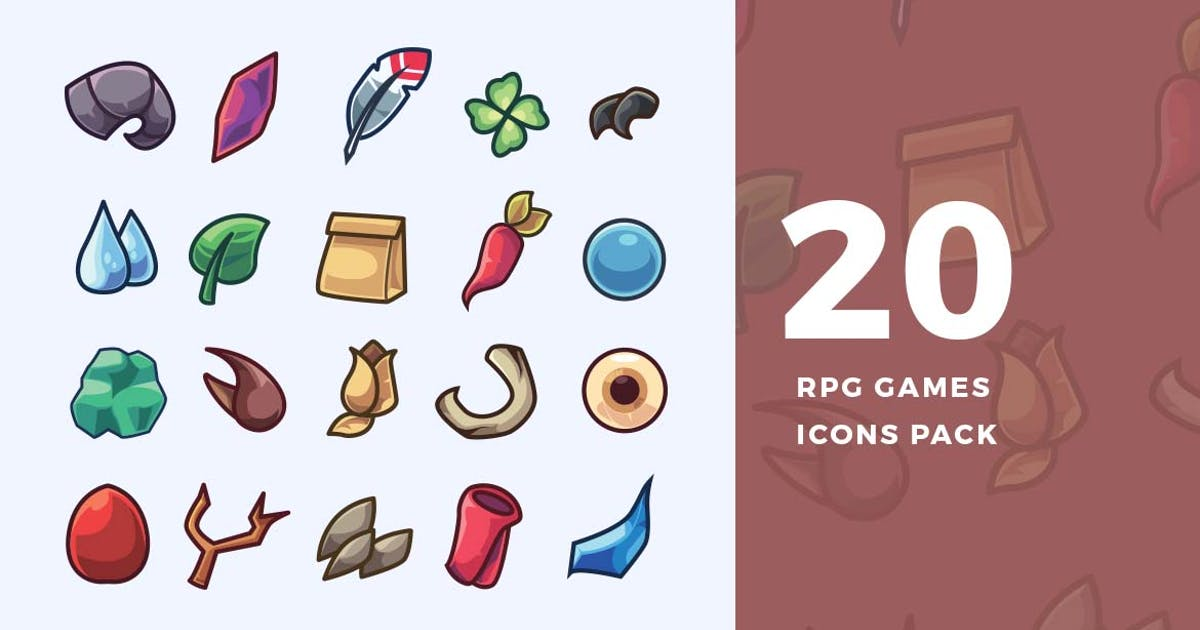Download 20 RPG Games Icons Pack by ovozdigital