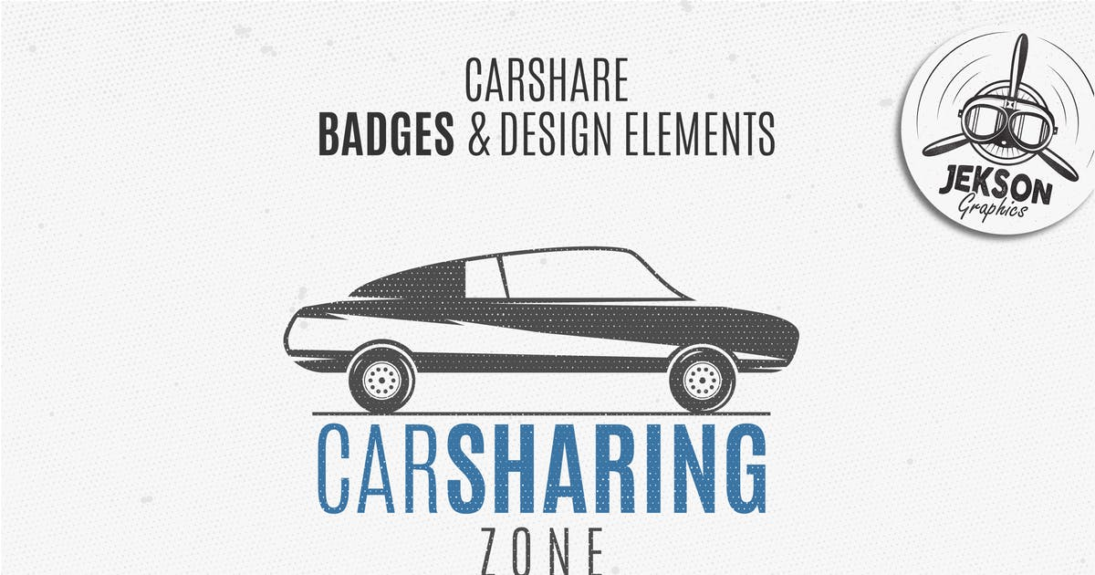 Download Car Sharing Badges / Logo & Retro Elements by JeksonJS