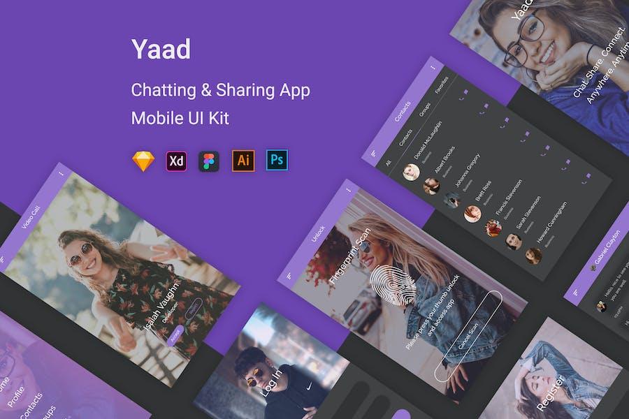 Yaad - Chatting & Sharing UI Kit