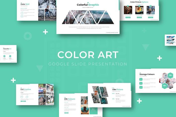 Thumbnail for Цветное искусство - Шаблон слайдов Google