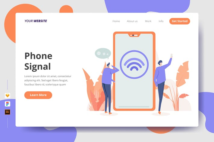 Thumbnail for Phone Signal - Landing Page