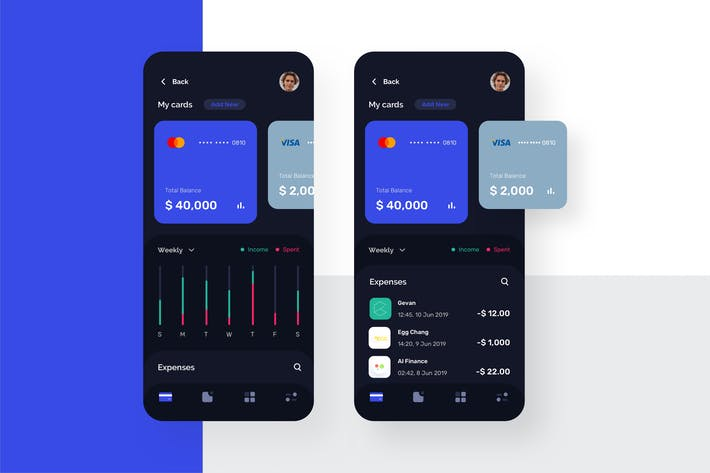 Thumbnail for Card Manager Mobile UI - N