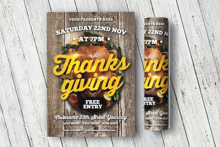 dépliant de Thanksgiving