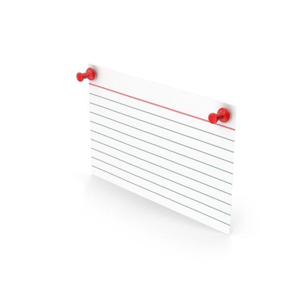 Index Card And Push Pins