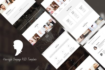 Hair Style - HTML Responsive Onepage Template