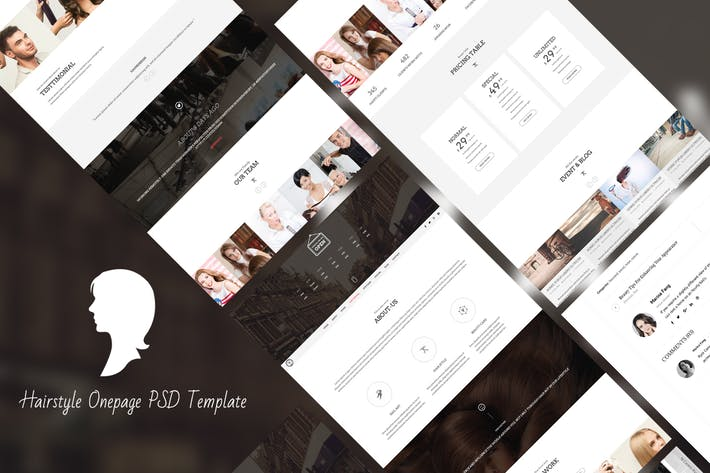 Thumbnail for Hair Style - HTML Responsive Onepage Template