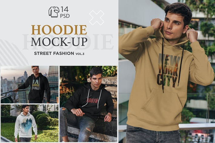 Thumbnail for Hoodie Mock-Up Street Fashion vol.3