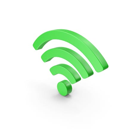 Wi-Fi Symbol grün
