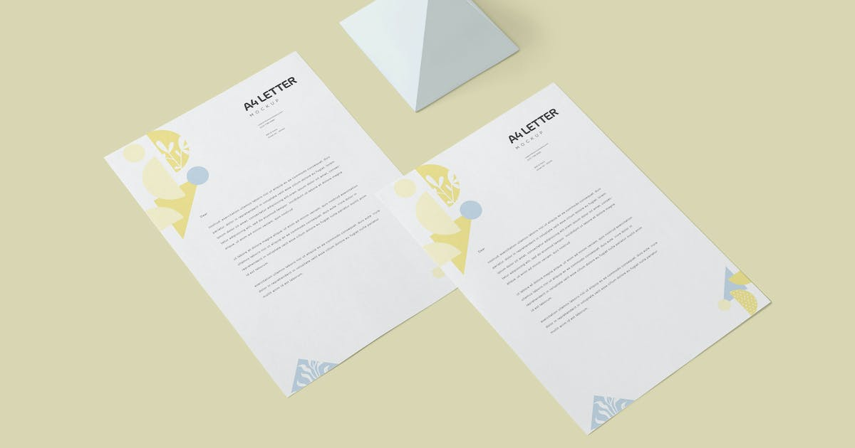 Download A4 Size Paper Mockups by DesignNeutrons