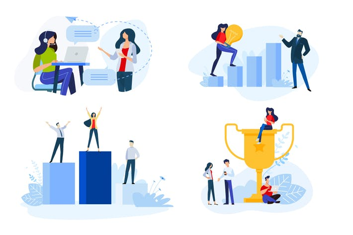 Thumbnail for Flat Design Concepts of Business Success