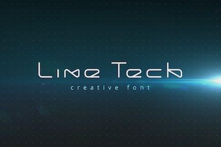 Police de la technologie futuriste LineTech