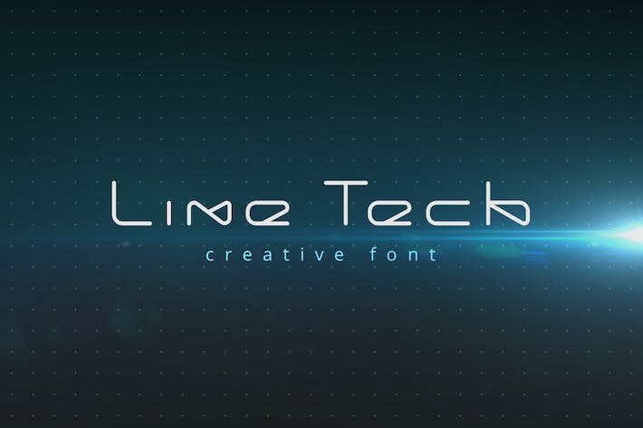 Cover Image For LineTech futuristic technology font
