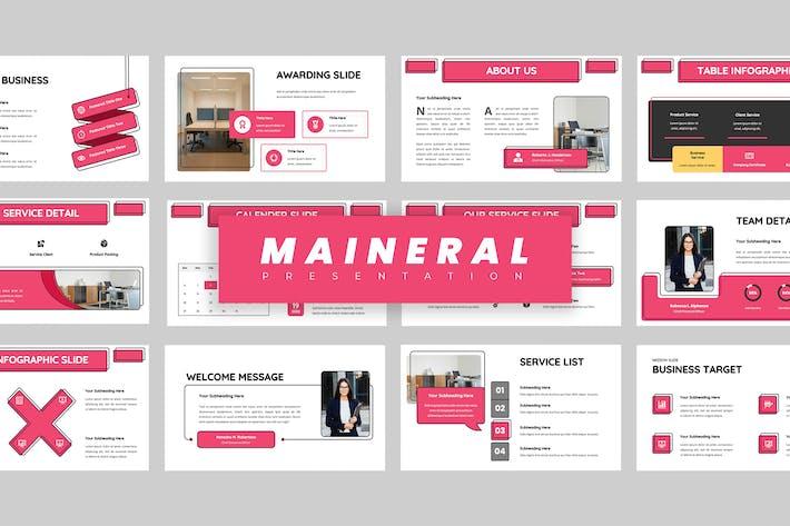 Maineral - Keynote Presentation
