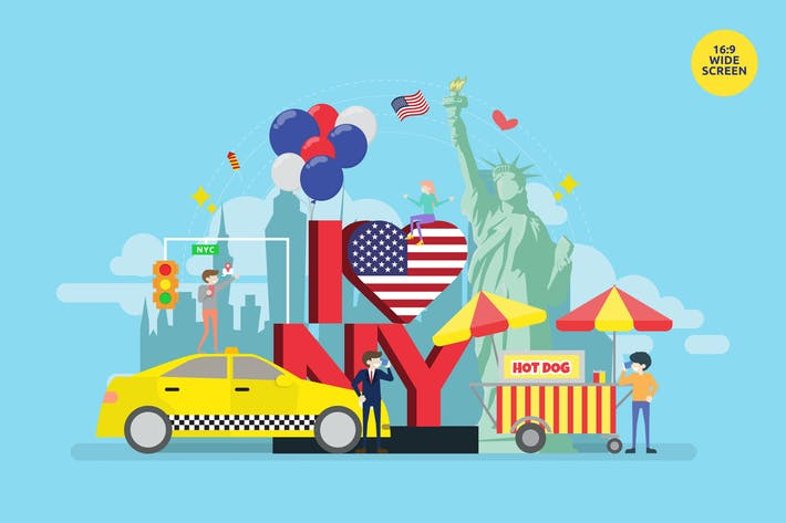 Thumbnail for I Love New York Vector Concept Illustration