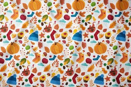 Cozy Autumn Seamless Pattern