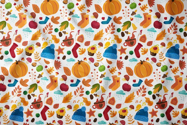 Cozy Autumn Seamless Pattern