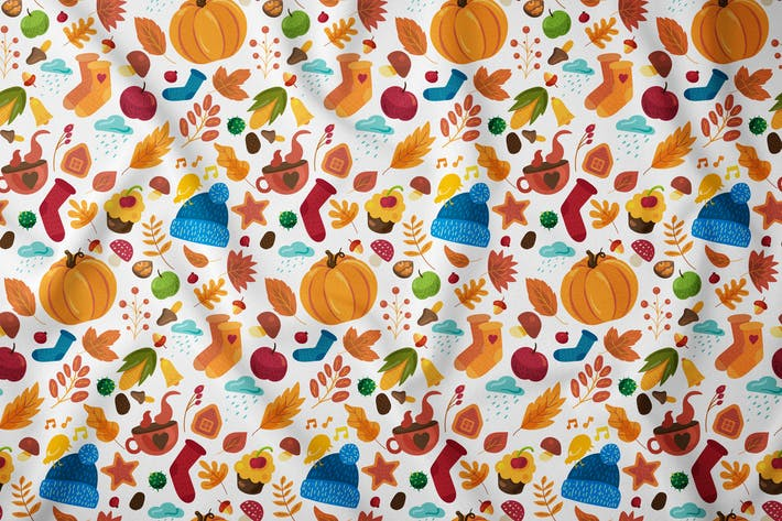 Thumbnail for Cozy Autumn Seamless Pattern