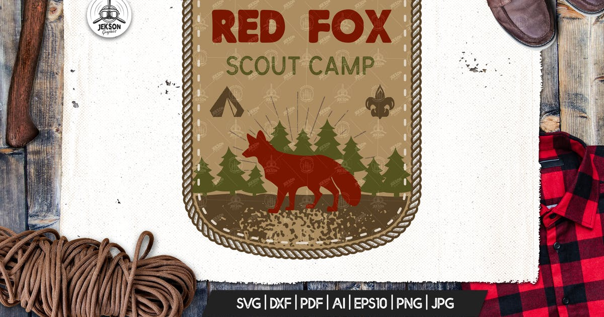 Download Travel Scout Logo / Vintage Camp Badge Patch by JeksonJS