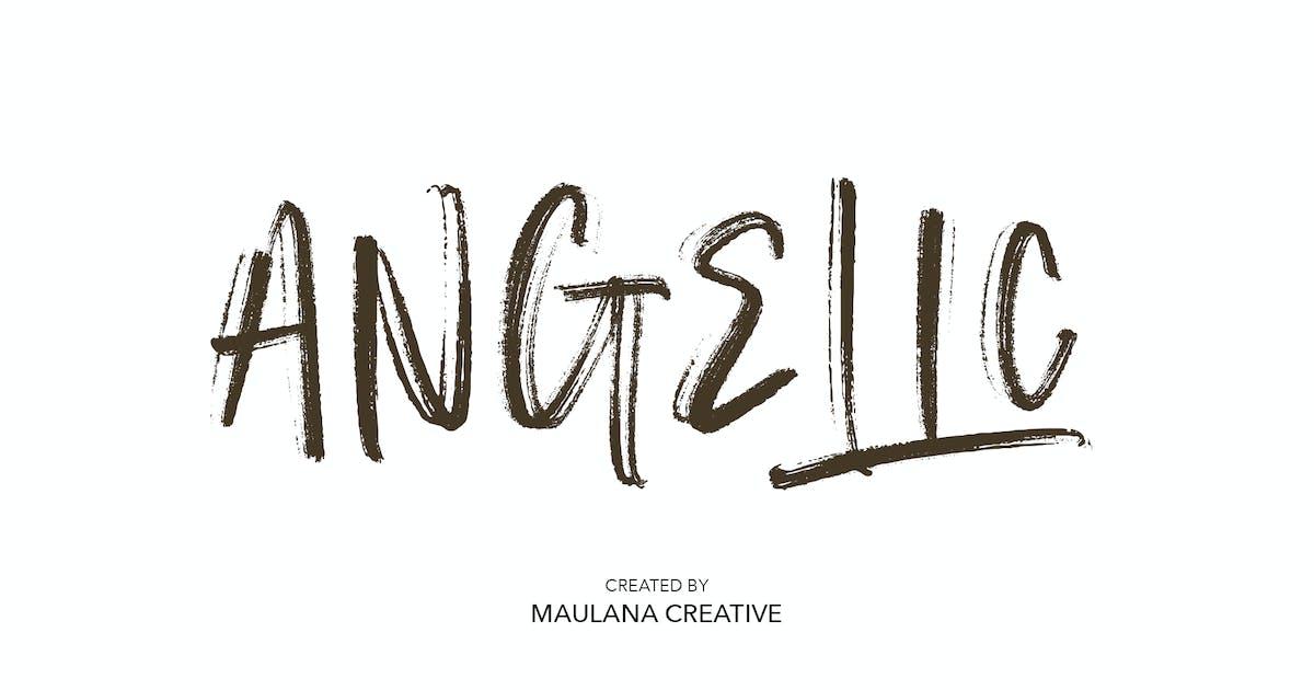 Download Angelic SVG Brush Font by maulanacreative