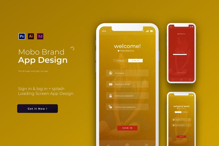 Thumbnail for Mobo Login & Sign Up | App Template