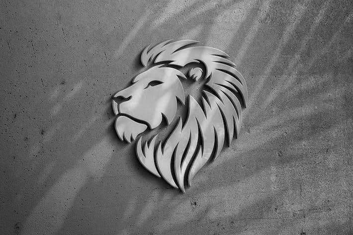 Matte Metal: Silver Logo Mockup