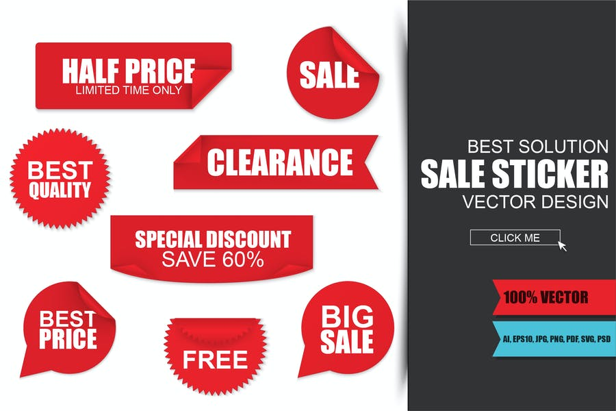 Red-Sale-Paper-Stickers