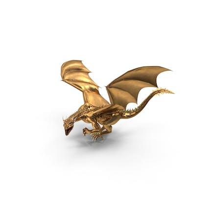 Goldener Drache lauert