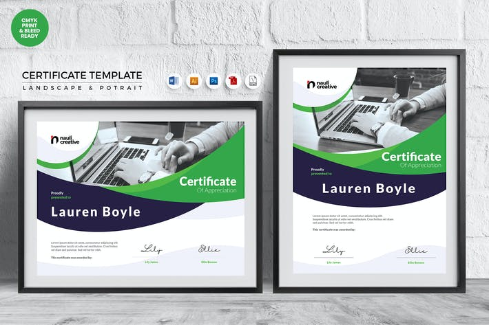 Thumbnail for Professional Certificate Template Vol.18